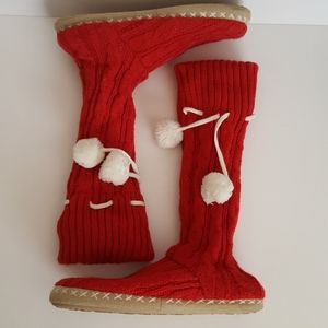 FINAL PRICE 5/$25 Sweater knit boot slippers